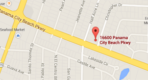 Location Map - Calhoun Chiropractic Center, 16600 Panama City Beach Pkwy, Panama City Beach FL, 32413